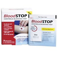 Blood Stop - Control Bleeding Fast - Absorb Soluble Gel - 10 Sterile Packets