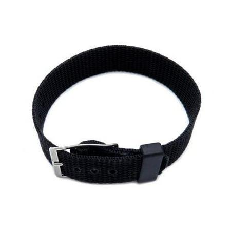 Nylon One Piece Slip Thru 12mm Black Watch Strap Black Nylon Strap Jewelry