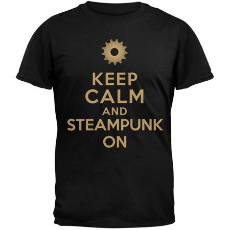 Keep Calm and Steampunk On T-Shirt - Cheap Steampunk Clothing