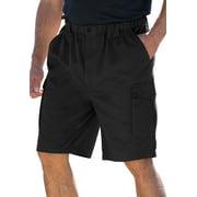 "Boulder Creek by KingSize Men's Big & Tall  Renegade 9"" Full Elastic Waist Single Pocket Cargo Shorts"