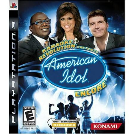 American Idol: Encore [Karaoke Revolution Presents] (with Microphone) (Ps3 Karaoke Games)