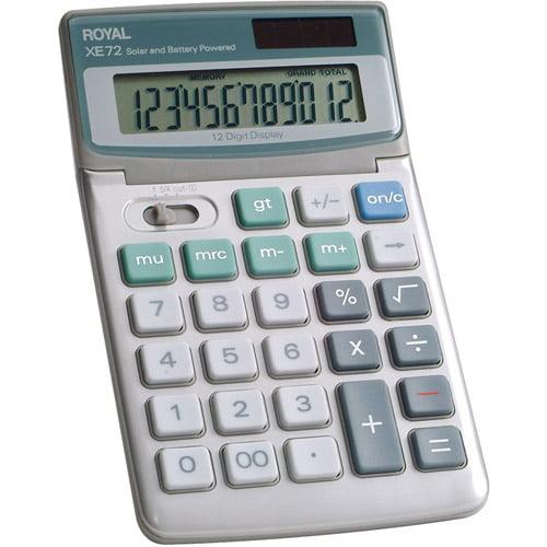 Royal 12-Digit Desktop Solar Calculator, 29307U