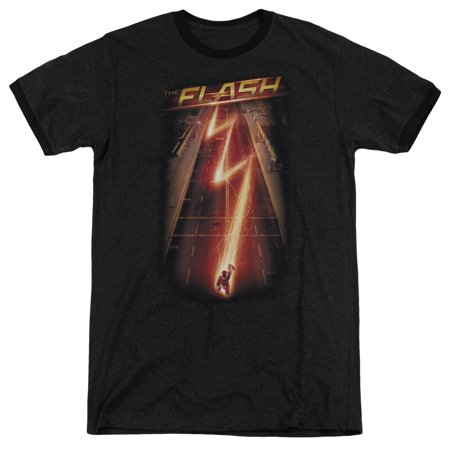 The Flash Flash Ave Mens Adult Heather Ringer (Mens Flask)