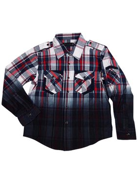 980588f5 Free shipping. Product Image Smash Boys Sizes 4 - 14 Western Style Long  Sleeve Button or Snap Down Shirt Top