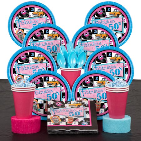 Fabulous 50's Deluxe Kit (Serves 8) - Party (50's Theme Party Supplies)