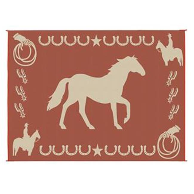 MINGS MARK LK7 Horse Mat 9x12 Brown, Beige