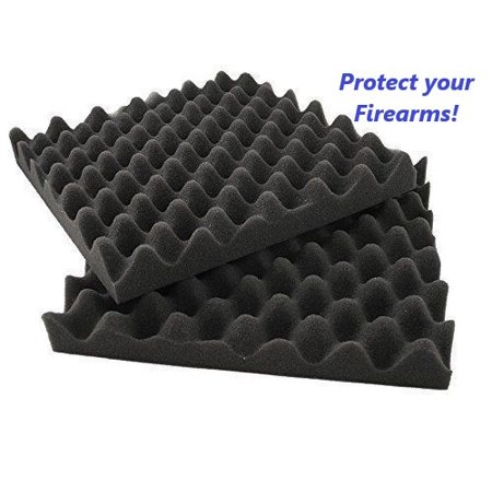2 Pack Hand Gun Firearm Pistol Foam Tiles 12 x12 x1.4 Riffle Gun Case Protection thumbnail
