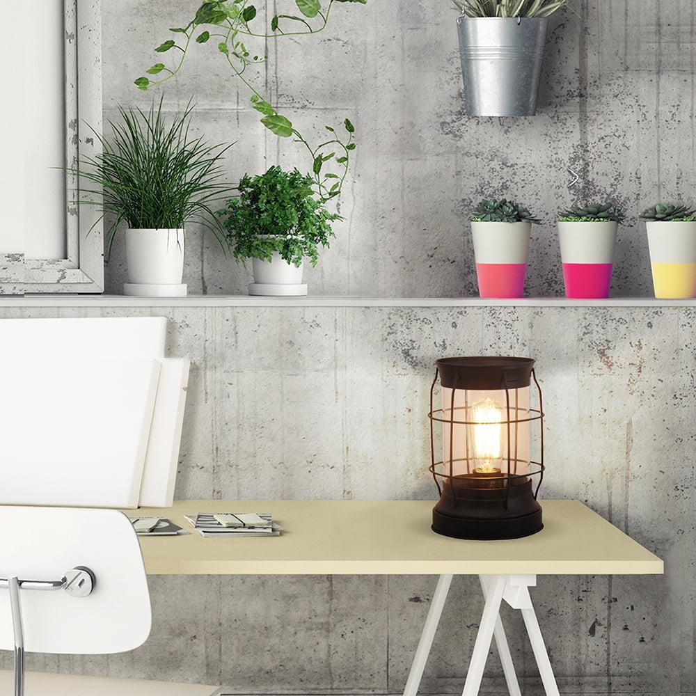 """Better Homes & Gardens 9"""" Glass Edison Lantern, Bronze Finish"""