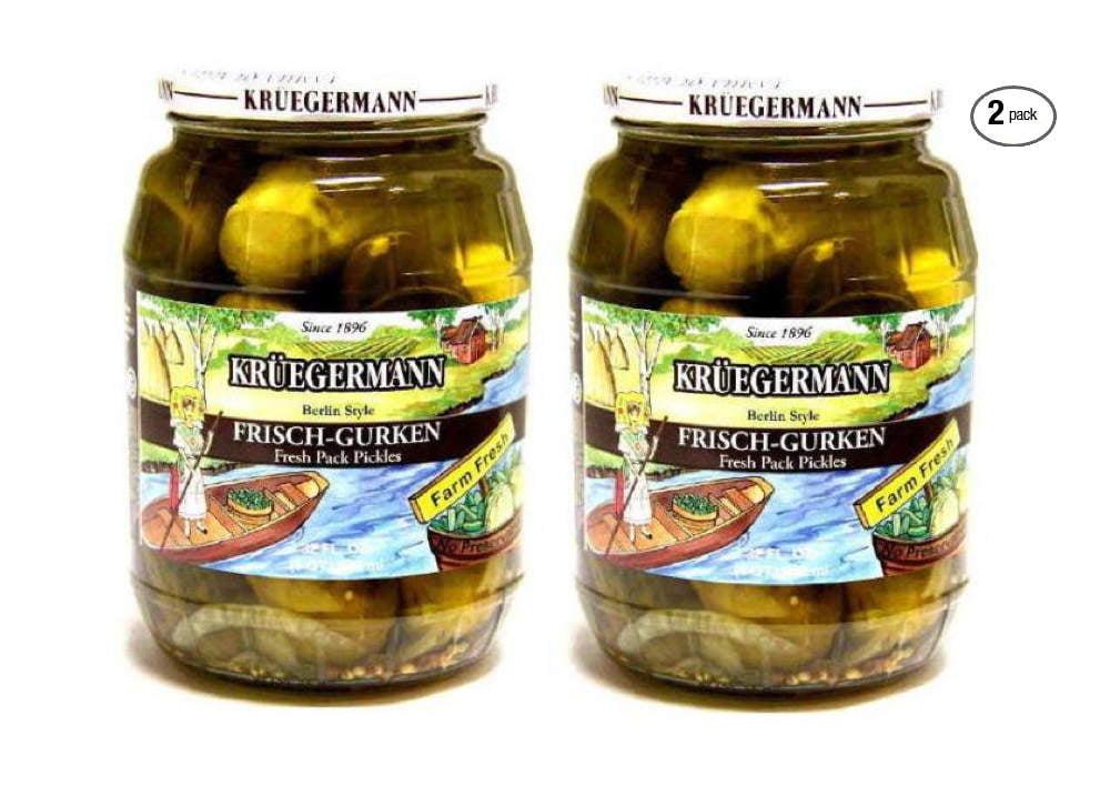 Kruegermann Pickles Frischgurken Berlin Style 2-Pack 64 fl oz. by Kruegermann