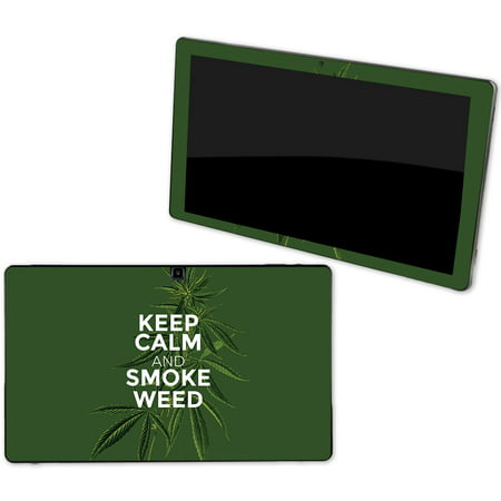 Skin For NuVision Supreme 1001 Tablet - Smoke Weed | MightySkins Protective, Durable, and Unique Vinyl Decal wrap cover | Easy To Apply, Remove, and Change Styles | Made in the