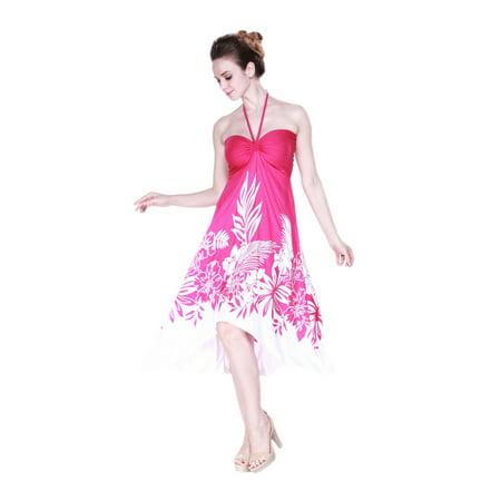 Women's Hawaiian Butterfly Luau Dress in Pink Indri L](Luau Dress)
