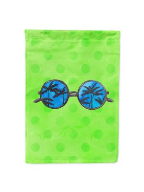 Sunglasses Green Polkadot Garden Flag