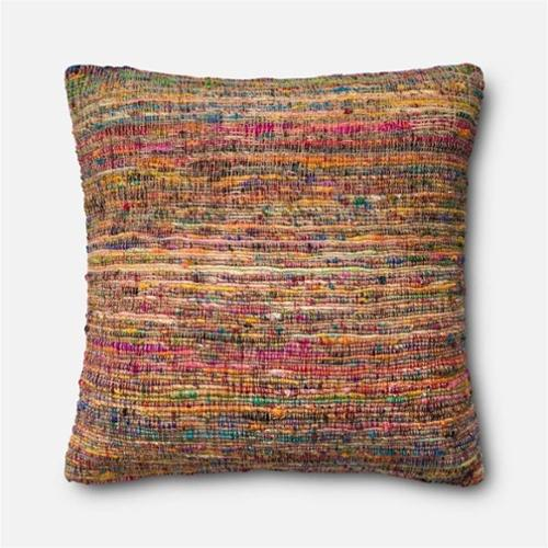 """Loloi 1'10"""" x 1'10"""" Cotton Poly Pillow in Pink"""