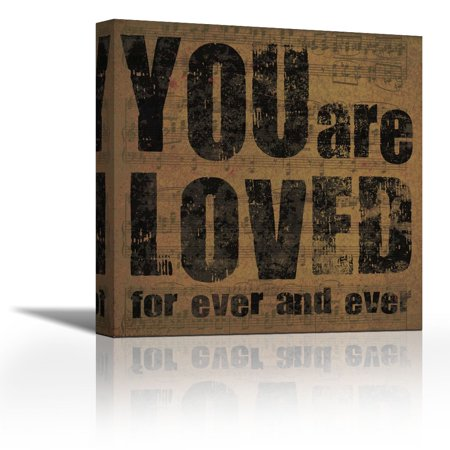 You Are Loved - Contemporary Fine Art Giclee on Canvas Gallery Wrap - wall décor - Art painting - 12 x 12 Inch - Ready to Hang