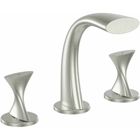 Ultra Faucets UF55513 2-Handle Brushed Nickel Lavatory Widespread Faucet