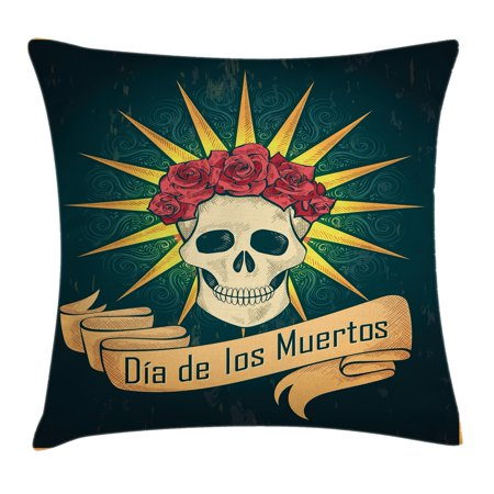 1ee725594ab Day Of The Dead Decor Throw Pillow Cushion Cover