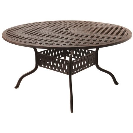 Darlee Series 30 60 Round Patio Dining Table In Antique Bronze