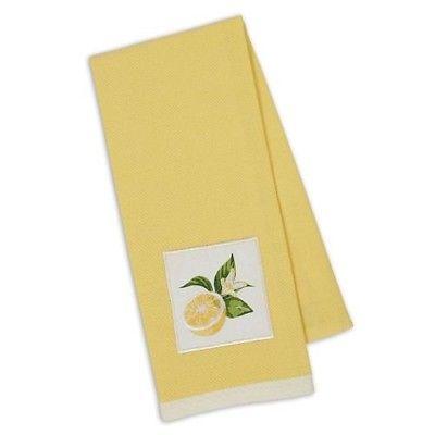 Design Imports Kitchen Towel - Lemon Sliced Embellished