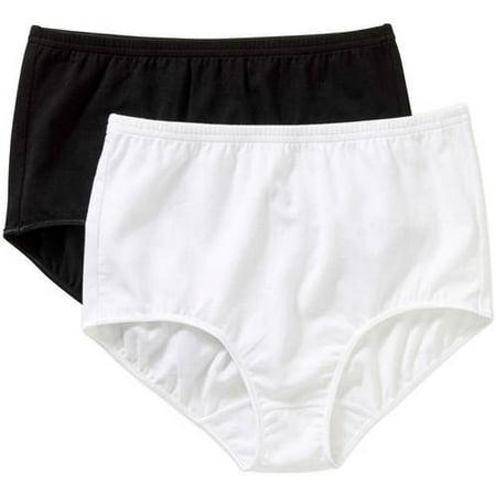 3cc6fc8e86d Secret Treasures - Panty Cotton Stretch Brief, 2 Pack - Walmart.com