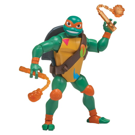 Rise of the Teenage Mutant Ninja Turtle Storage Shell Michelangelo Action Figure - Michelangelo Nunchucks Toy