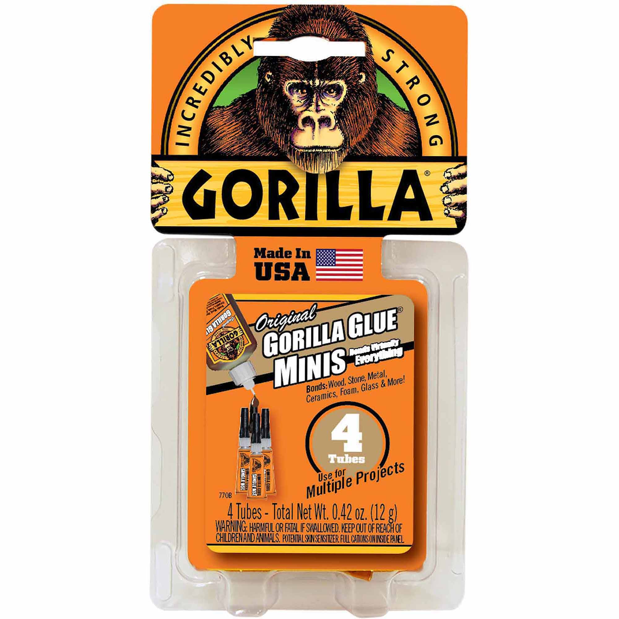 Gorilla Glue Single-Use Tubes, 4-Pack