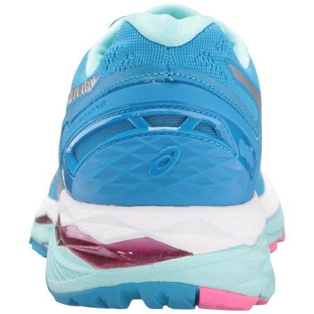 Asics Women's Gel Kayano 23 Diva Blue Silver Aqua Splash Ankle High Running Shoe 5.5M