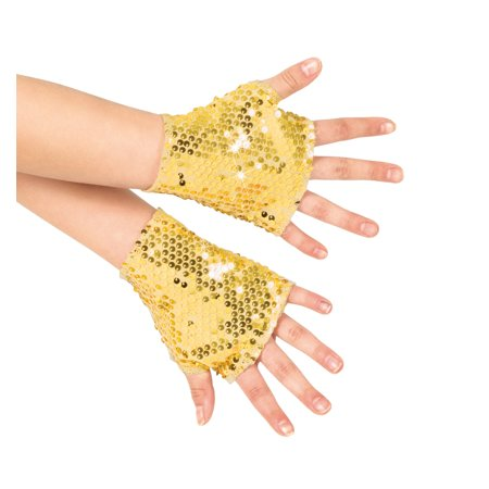 Girls Sequin Mitts