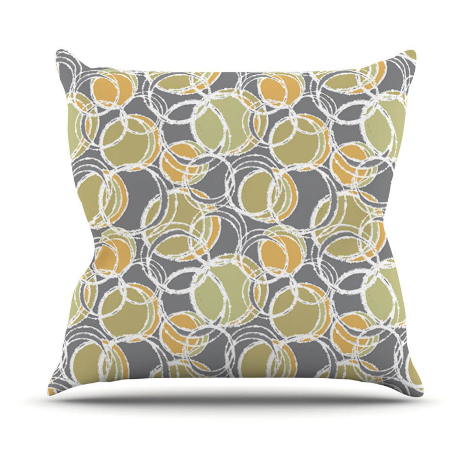 Kess InHouse Julia Grifol Simple Circles Outdoor Throw Pillow