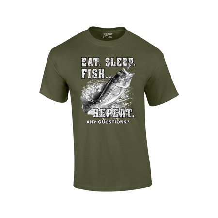 Fishing T-Shirt Eat Sleep Fish