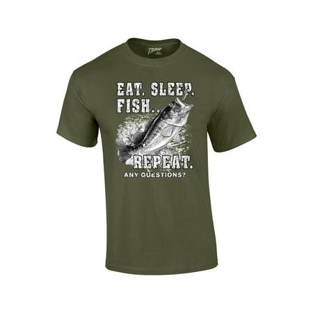 Fishing T-Shirt Eat Sleep Fish (Best Fishing T Shirts)