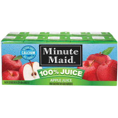 Minute Maid 100% Apple Juice Box, 10 Ct/67.5 Fl Oz