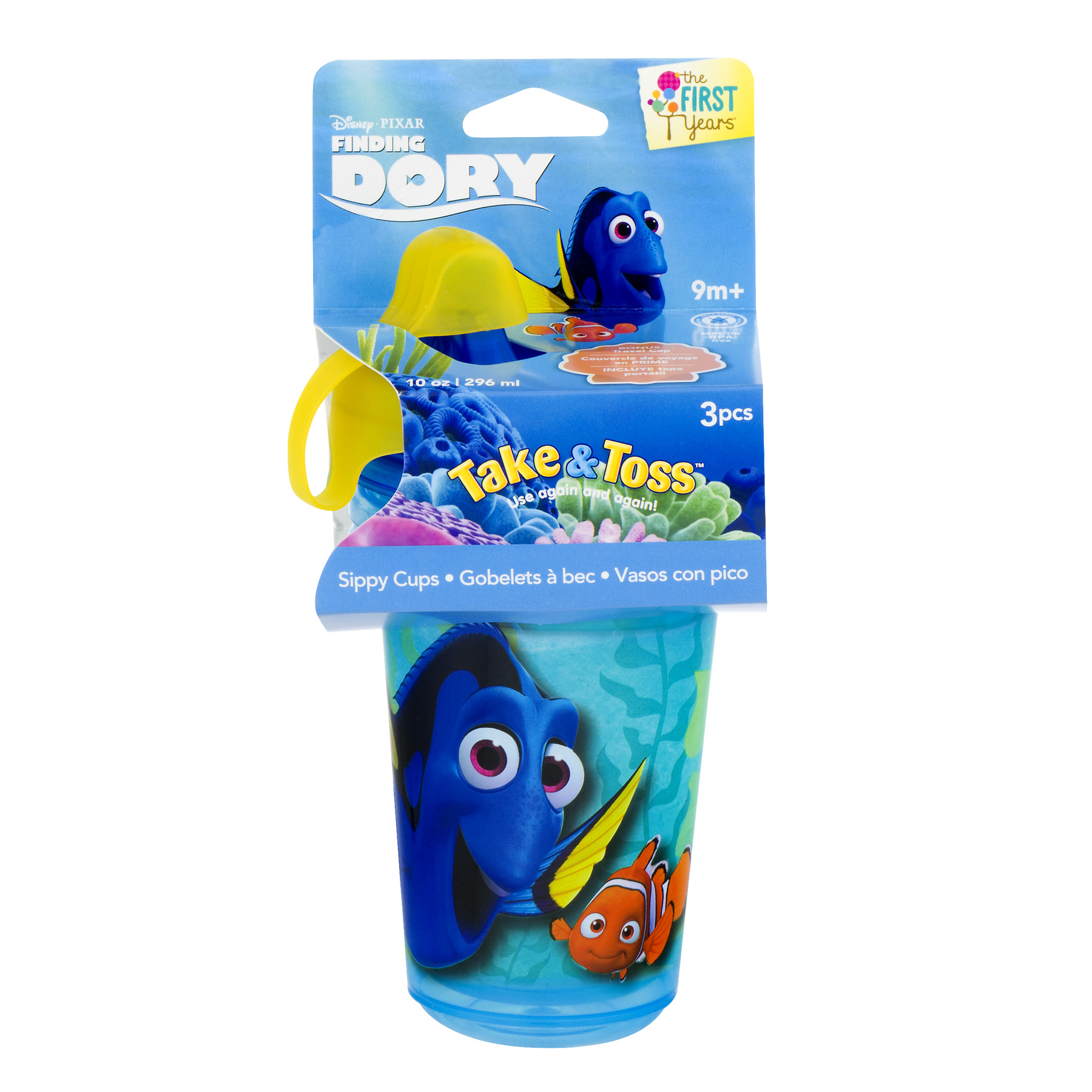 The First Years Disney Pixar Finding Dory Sippy Cup 9m+  - 3 PCS, 3.0 PIECE(S)