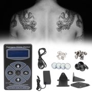 LCD Digital Tattoo Power Supply for Critical Rotary&Coil Tattoo Pen Machine Kit
