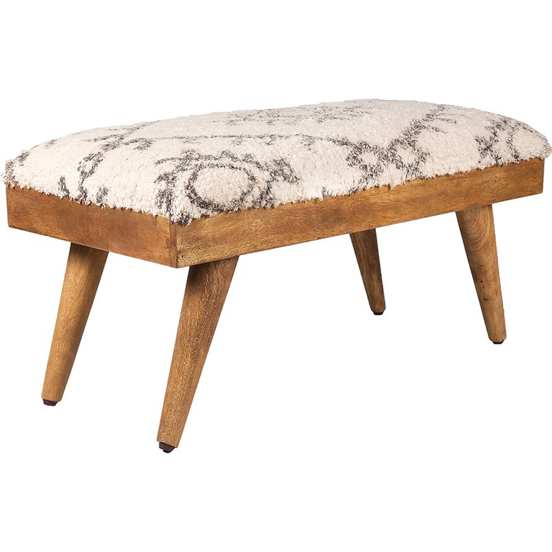 Renwil Soma Bench In Natural And White Walmart Com Walmart Com
