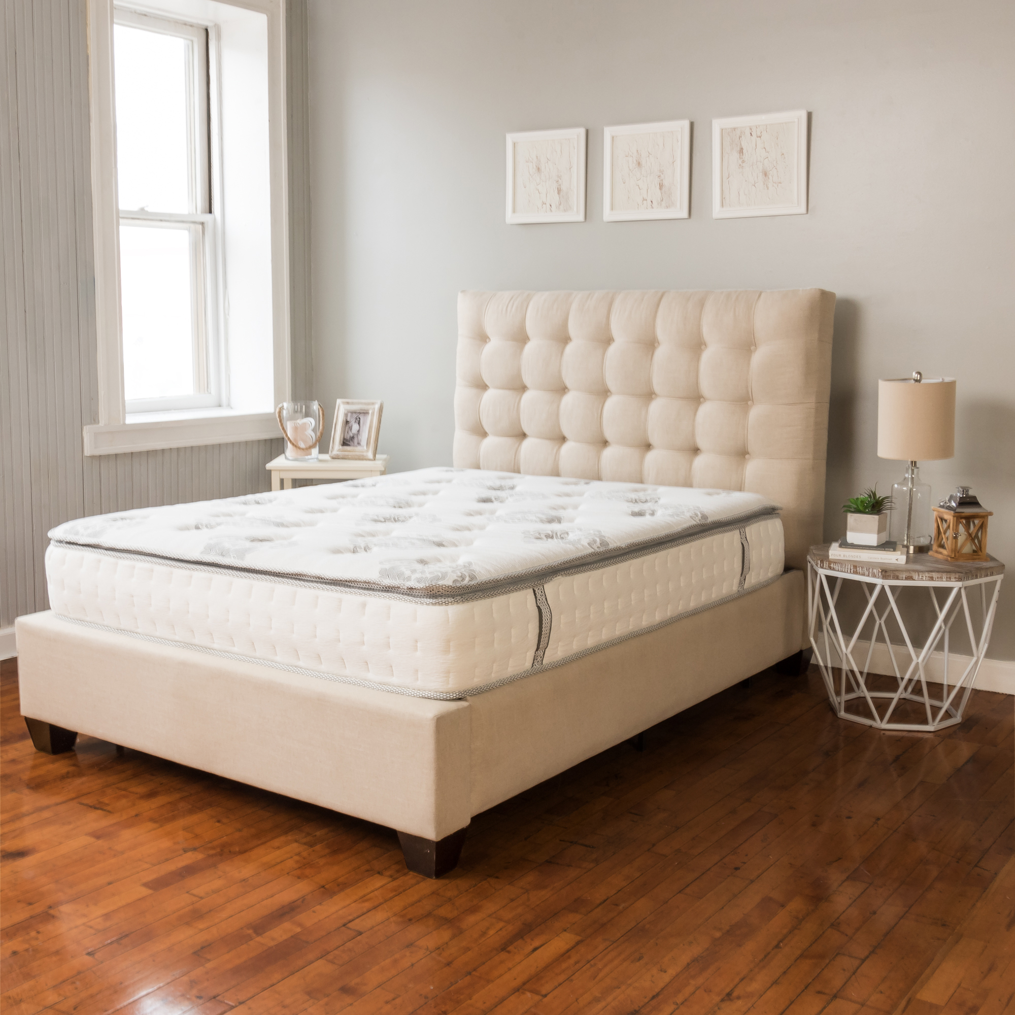 Modern Sleep Mercer Pillow-Top Cool Gel Memory Foam and Innerspring Hybrid 12-Inch Mattress, Multiple Sizes