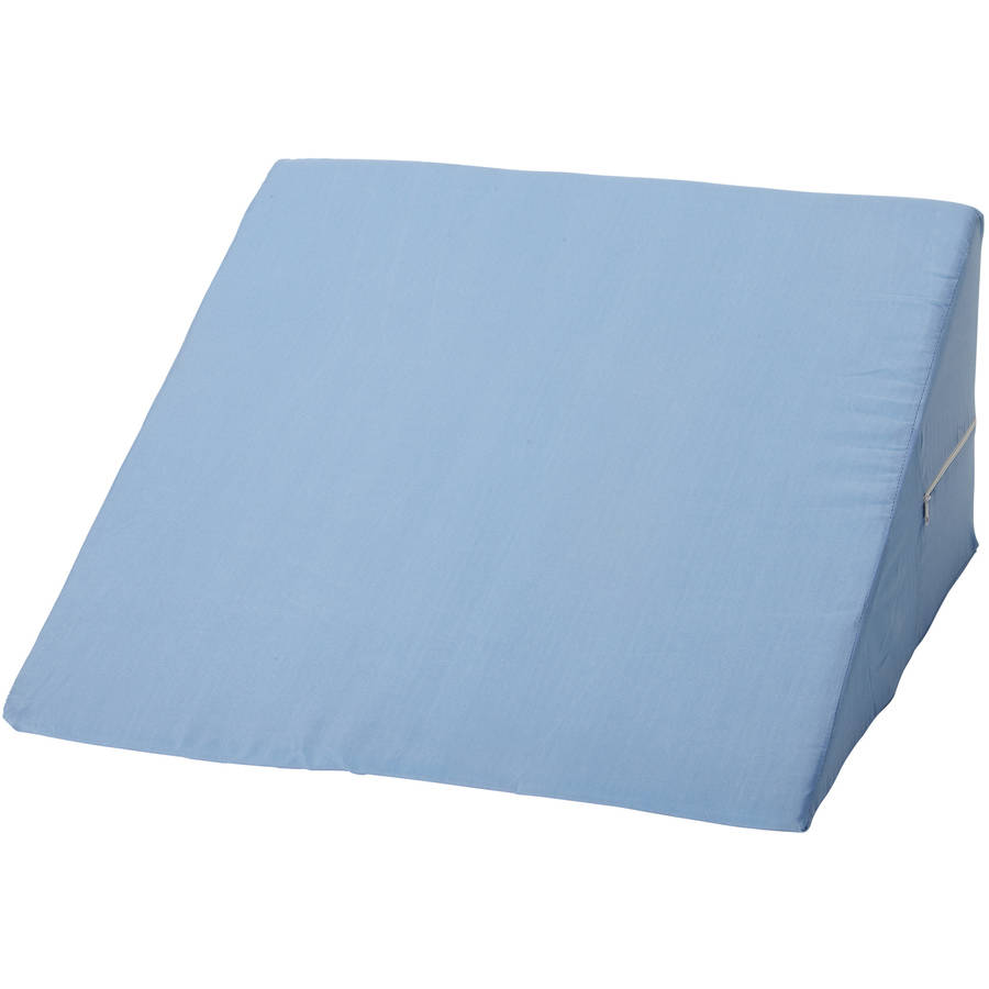 """DMI Wedge Bed Pillow for Acid Reflux and Sleep Apnea, Anti Snore Foam Mattress Wedge Pillow, Incline Pillow for Leg Rest and Back Support, Blue, 10"""" x 24"""" x 24"""