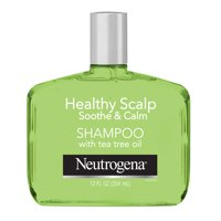 Neutrogena Tea Tree Oil Shampoo to Refresh & Moisturize Dry Scalp & Hair, Healthy Scalp Soothe & Calm, Sulfate-Free Surfactants, Color-Safe, 12 fl oz