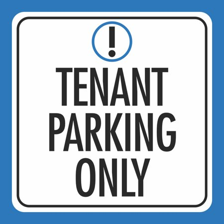 Aluminum Tenant Parking Only Notice Car Lot Business Public Square Sign, 12x12