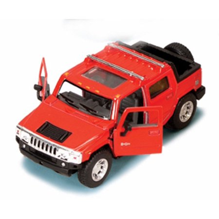 2005 Hummer H2 SUT Pickup Truck, Red - Kinsmart 5097D - 1/40 scale Diecast Model Toy Car (Brand New, but NOT IN BOX) 64 Scale Diecast Truck Car
