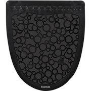 Boardwalk 2.0 Rubber Urinal Mats, Black/Black, 6 count