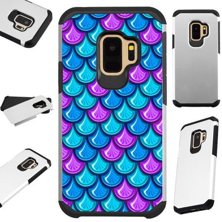 low priced b246a 09bdf For Samsung Galaxy S9 Case Hybrid TPU Fusion Phone Cover (Mermaid Teal)