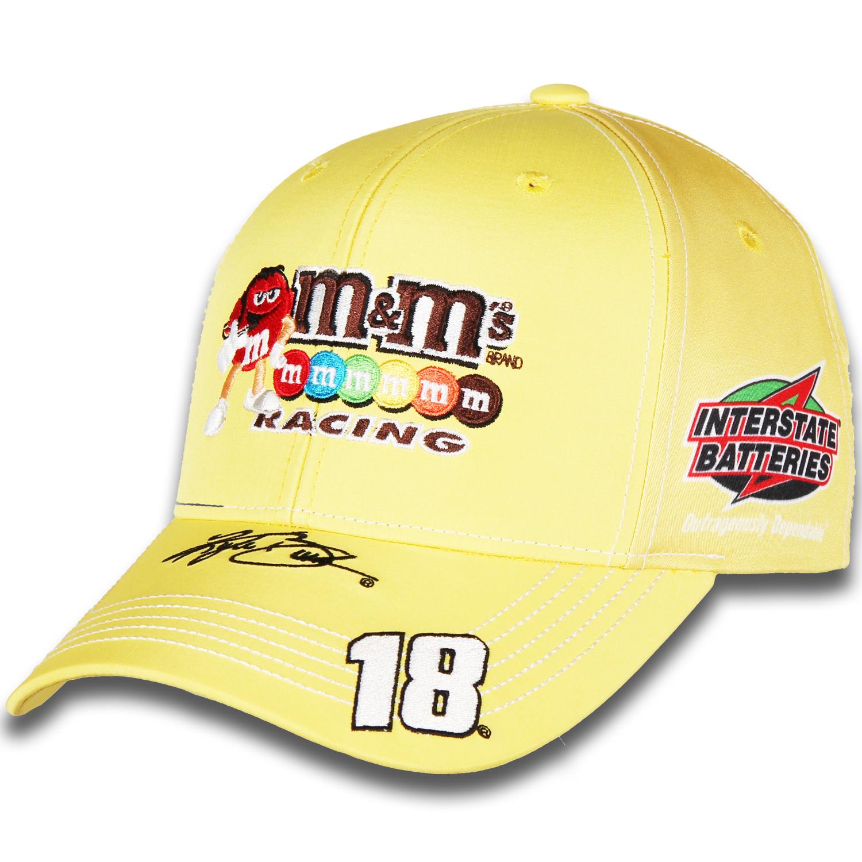 Kyle Busch Joe Gibbs Racing Team Collection M&M's Uniform Adjustable Hat - Yellow - OSFA