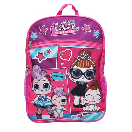 "Girls LOL Surprise Makeover Backpack 16"" Purple - image 1 of 2"