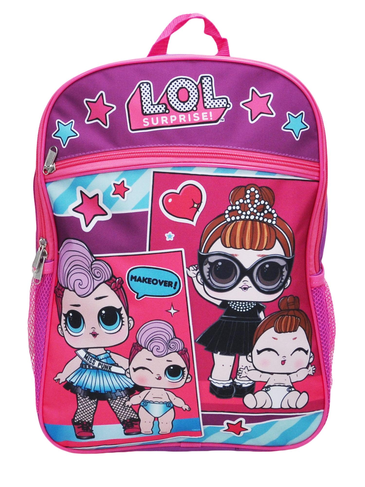 "Girls LOL Surprise Makeover Backpack 16"" Purple"