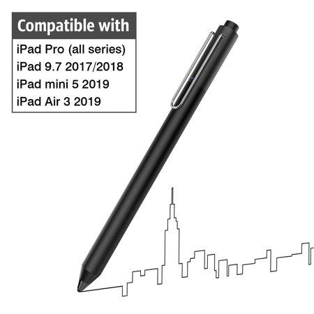 MoKo Active Stylus Pen Fit with Apple iPad, High Sensitivity Rechargeable Pencil Capacitive Digital Pen Compatible with iPad Pro 9.7/10.5/11/12.9,iPad mini 5/iPad Air 3 2019,iPad 9.7 2017/2018 -