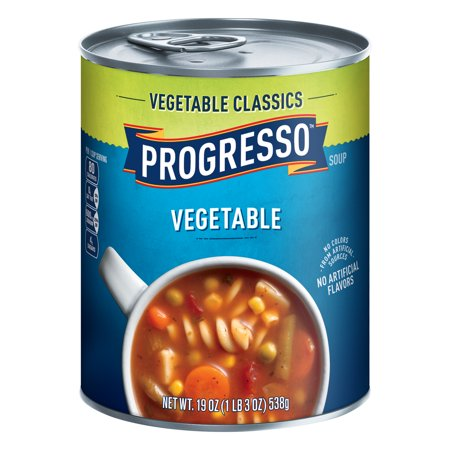 (8 Pack) Progresso Soup, Vegetable Classics, Vegetable Soup, 19 oz Can Cabbage Vegetable Soup