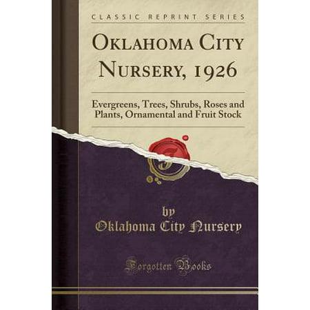 - Oklahoma City Nursery, 1926 : Evergreens, Trees, Shrubs, Roses and Plants, Ornamental and Fruit Stock (Classic Reprint)