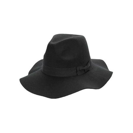 262bcc8db29 Luxury Divas - Panama Style Wool Wide Brim Floppy Hat - Walmart.com