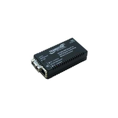 Transition Networks 10 100 1000Base Tx To 1000Base Sx Media Converter   1 X Rj 45   1 X Sc   10 100 1000Base T  1000Base Sx   Milan Technology M Ge Psw Sx 01 Na  M Gepswsx01na