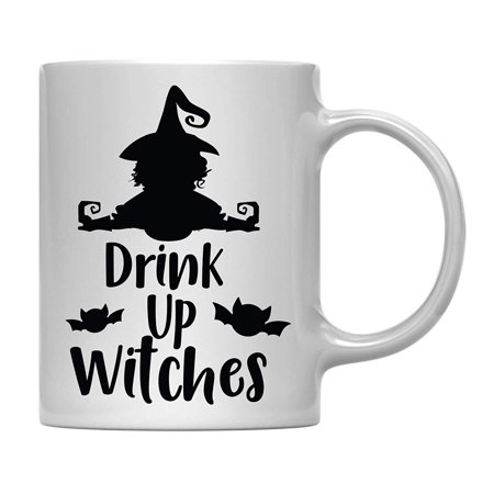 Andaz Press 11oz. Halloween Coffee Mug Gift, Drink Up Witches, 1-Pack, Includes Gift Box